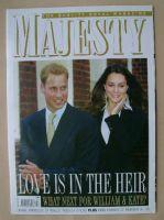 <!--2007-02-->Majesty magazine - Prince William and Kate Middleton cover (February 2007 - Volume 28 No 2)