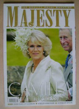 Majesty magazine - Camilla, Duchess of Cornwall cover (July 2007 - Volume 28 No 7)
