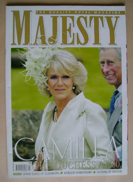 <!--2007-07-->Majesty magazine - Camilla, Duchess of Cornwall cover (July 2