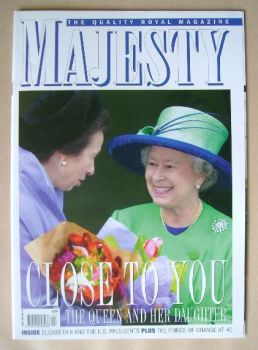 Majesty magazine - Princess Anne and The Queen cover (April 2007 - Volume 28 No 4)