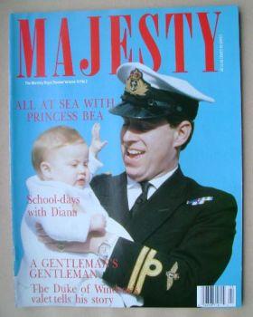 Majesty magazine - Prince Andrew and Princess Bea cover (June 1989 - Volume 10 No 2)