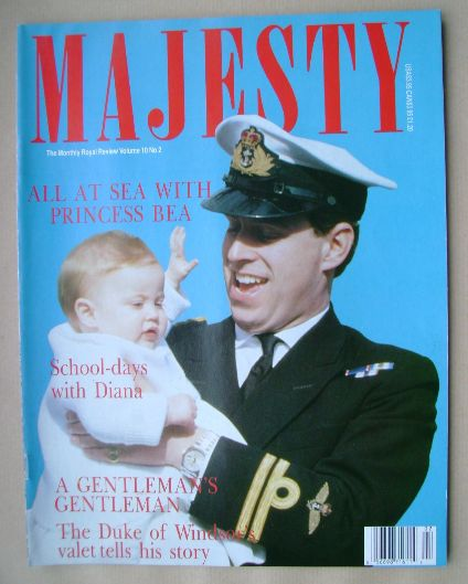 <!--1989-06-->Majesty magazine - Prince Andrew and Princess Bea cover (June