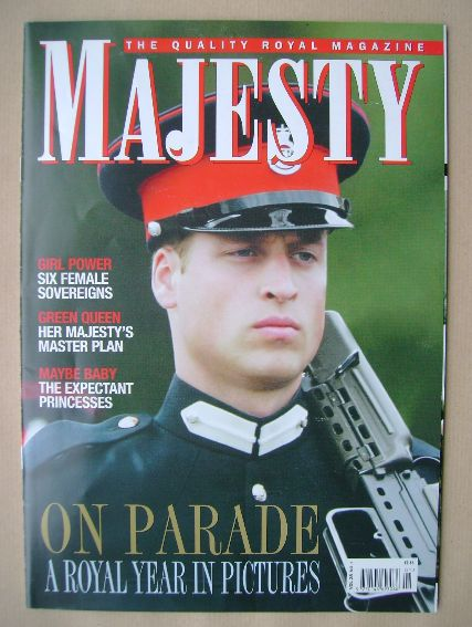<!--2007-01-->Majesty magazine - Prince William cover (January 2007 - Volum