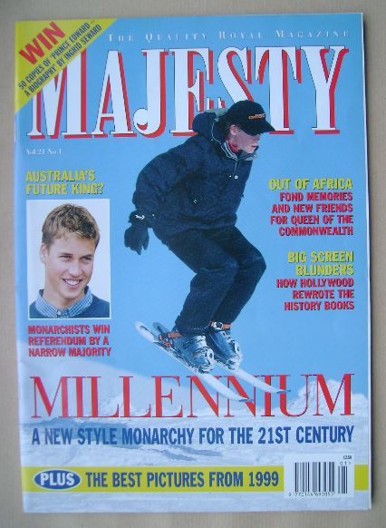 <!--2000-01-->Majesty magazine - Millennium cover (January 2000 - Volume 21