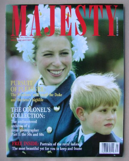 <!--1989-05-->Majesty magazine - Princess Anne and Prince Edward cover (May