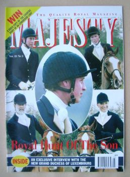 Majesty magazine - Royal Hunt Of The Son cover (March 2001 - Volume 22 No 3)