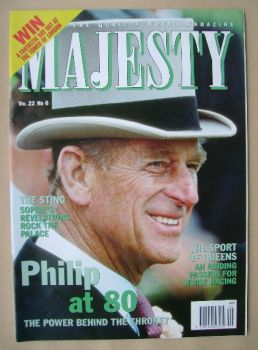 Majesty magazine - Prince Philip cover (June 2001 - Volume 22 No 6)