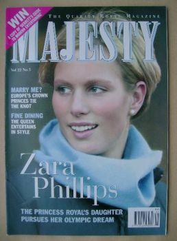 Majesty magazine - Zara Phillips cover (May 2001 - Volume 22 No 5)
