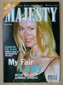 Majesty magazine - Lady Helen Taylor cover (August 2001 - Volume 22 No 8)