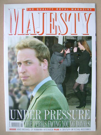<!--2007-05-->Majesty magazine - Prince William cover (May 2007 - Volume 28