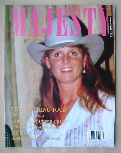 <!--1989-09-->Majesty magazine - Sarah Ferguson cover (September 1989 - Vol