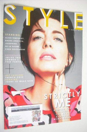 <!--2014-08-31-->Style magazine - Claudia Winkleman cover (31 August 2014)