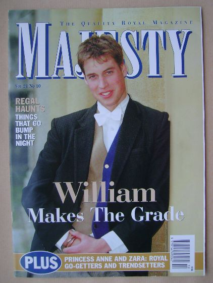 <!--2000-10-->Majesty magazine - Prince William cover (October 2000 - Volum