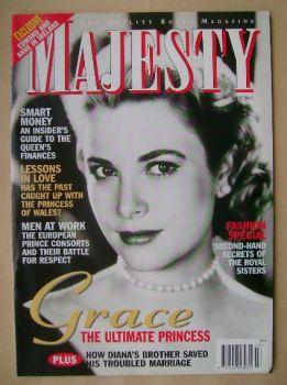 Majesty magazine - Grace Kelly cover (March 1996 - Volume 17 No 3)