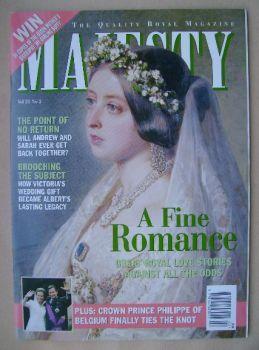 Majesty magazine - A Fine Romance cover (February 2000 - Volume 21 No 2)