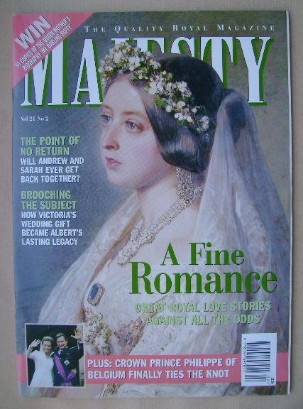 <!--2000-02-->Majesty magazine - A Fine Romance cover (February 2000 - Volu