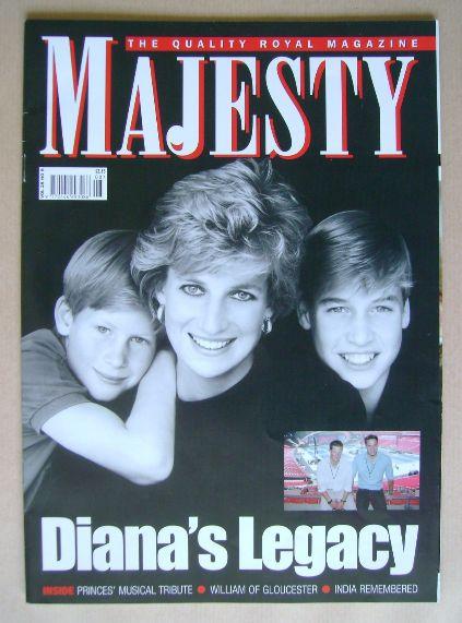 <!--2007-08-->Majesty magazine - Princess Diana, Prince Harry and Prince Wi