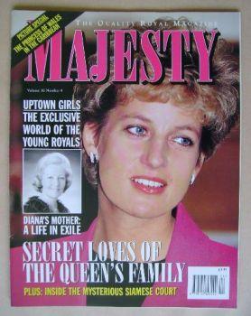 Majesty magazine - Princess Diana cover (April 1995 - Volume 16 No 4)
