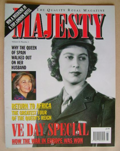 <!--1995-05-->Majesty magazine - Princess Elizabeth cover (May 1995 - Volum