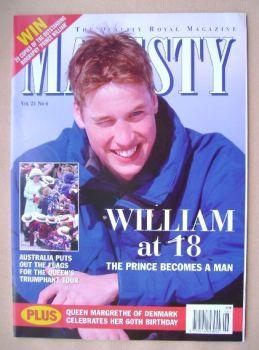 Majesty magazine - Prince William cover (June 2000 - Volume 21 No 6)