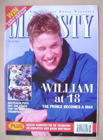 <!--2000-06-->Majesty magazine - Prince William cover (June 2000 - Volume 2