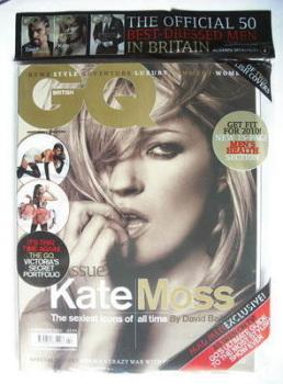 British GQ magazine - February 2010 - Kate Moss cover