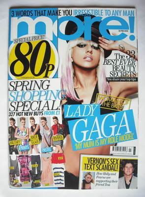 <!--2010-02-22-->More magazine - Lady Gaga cover (22 February 2010)