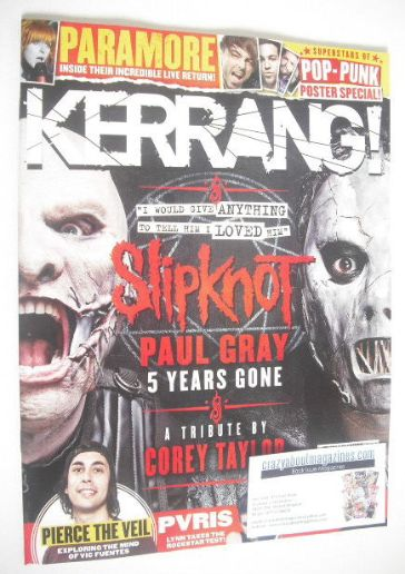 <!--2015-05-16-->Kerrang magazine - Slipknot cover (16 May 2015 - Issue 156