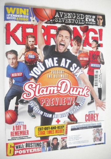 <!--2015-05-23-->Kerrang magazine - Slam Dunk Preview cover (23 May 2015 -