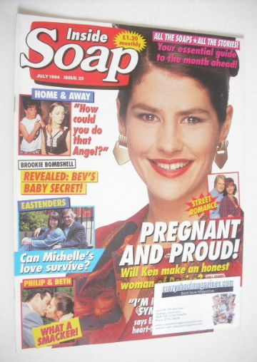 <!--1994-07-->Inside Soap magazine - Denise Black cover (July 1994)