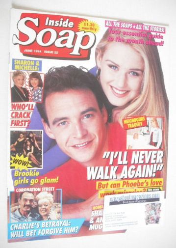 <!--1994-06-->Inside Soap magazine - Lochie Daddo and Simone Robertson cove