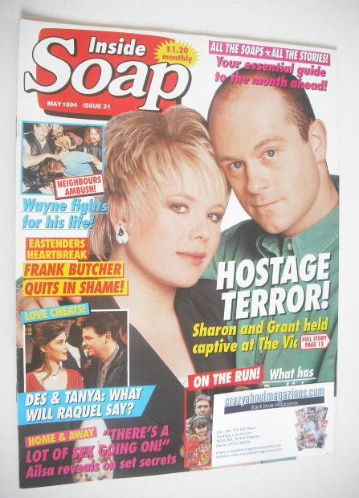 <!--1994-05-->Inside Soap magazine - Ross Kemp and Letitia Dean cover (May
