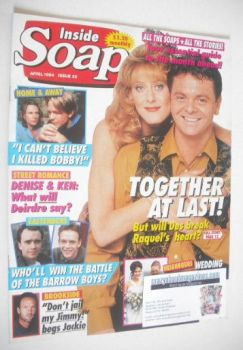 Inside Soap magazine - Phil Middlemiss and Sarah Lancashire cover (April 1994)