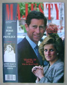 Majesty magazine - Prince Charles and Princess Diana cover (November 1989 - Volume 10 No 7)