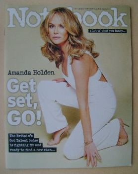 Notebook magazine - Amanda Holden cover (6 April 2014)