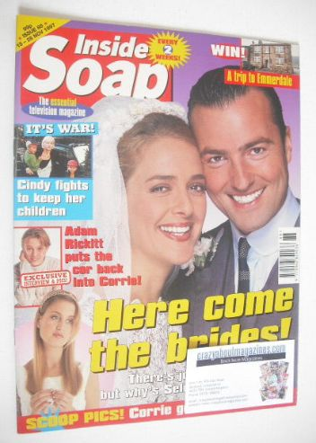 <!--1997-11-15-->Inside Soap magazine - Juliette Gruber and Nick Berry cove
