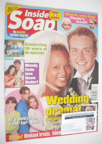<!--1997-11-01-->Inside Soap magazine - Angela Griffin and Glenn Hugill cov