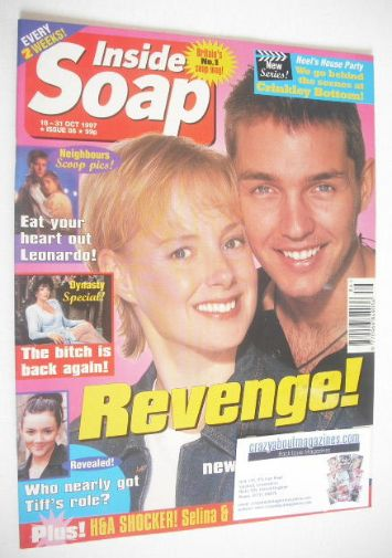 <!--1997-10-18-->Inside Soap magazine - Sally Whittaker and Matthew Marsden