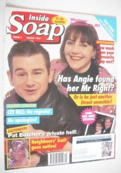 Inside Soap magazine - Debbie McAndrew and John Lloyd Fillingham cover (March 1993)