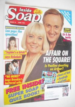 Inside Soap magazine - Wendy Richard and Billy Boyle cover (June 1993)