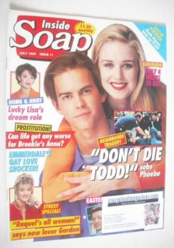 Inside Soap magazine - Simone Robertson and Kristian Schmid cover (July 1993)