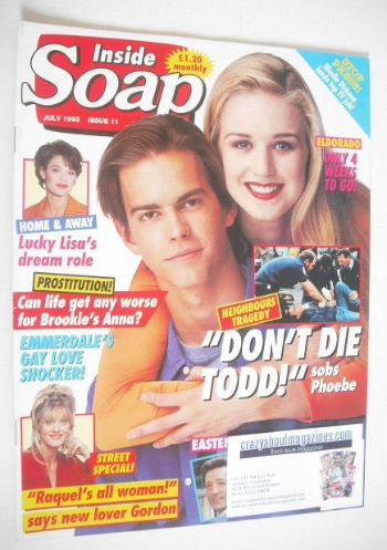 <!--1993-07-->Inside Soap magazine - Simone Robertson and Kristian Schmid c