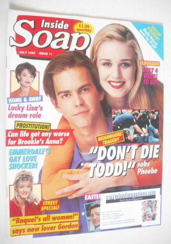 <!--1993-07-->Inside Soap magazine - Simone Robertson and Kristian Schmid c