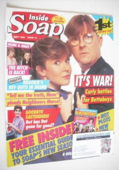 Inside Soap magazine - Kevin Kennedy and Pippa Hinchley cover (September 1993)