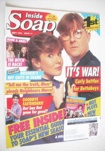 <!--1993-09-->Inside Soap magazine - Kevin Kennedy and Pippa Hinchley cover