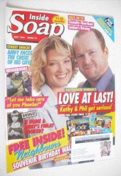 Inside Soap magazine - Gillian Taylforth and Steve McFadden cover (October 1993)