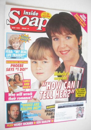<!--1993-11-->Inside Soap magazine - Susan Tully and Samantha Leigh Martin