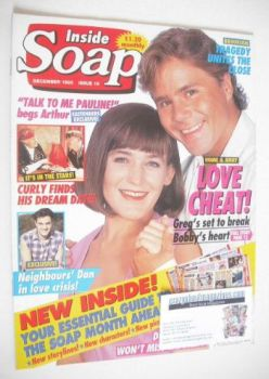 Inside Soap magazine - Nicolle Dickson and Ross Newton cover (December 1993)