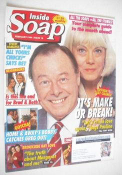 Inside Soap magazine - Bill Treacher and Wendy Richard cover (February 1994)