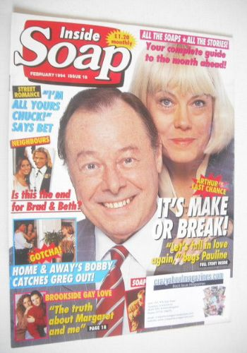 <!--1994-02-->Inside Soap magazine - Bill Treacher and Wendy Richard cover